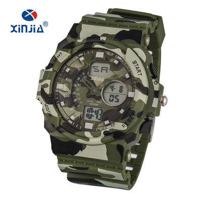 2019 New XINJIA Military Army Sport Watches Soldier Camouflage LED Digital For Mens Outdoor Shock Resistant Waterproof 50M Diver