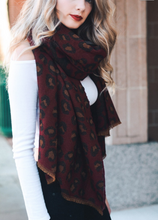 Load image into Gallery viewer, Red Leopard Print Blanket Scarf