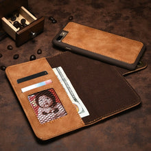 Load image into Gallery viewer, Retro Khaki iPhone Wallet Case