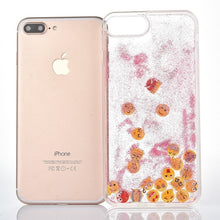 Load image into Gallery viewer, Pink Glitter Sand Emoji iPhone Case