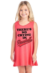 Theres No Crying In Baseball Verbiage Sleeveless