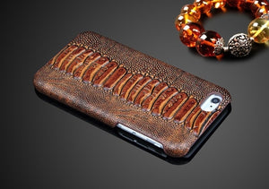 Snake style Cow Leather Phone Case