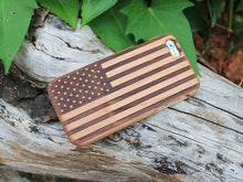 Load image into Gallery viewer, Wood USA Flag iPhone Case