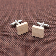 Load image into Gallery viewer, Wooden Cufflinks & Tie Clip Set