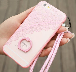 Ring Holder Lace Case For iPhone