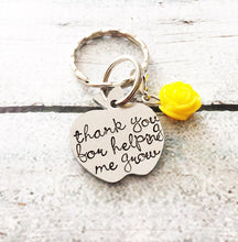 Load image into Gallery viewer, Teacher gift - Hand stamped keychain - Teacher