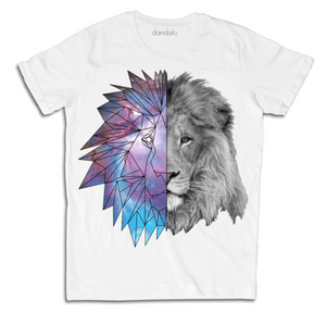 "T-Shirt Uomo ""Geometric Galaxy Lion"""