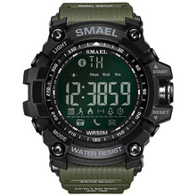 Load image into Gallery viewer, 50Meters Swim Dress Sport Watches Smael Brand Army Green Style 1617B