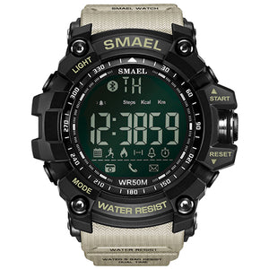 50Meters Swim Dress Sport Watches Smael Brand Army Green Style 1617B