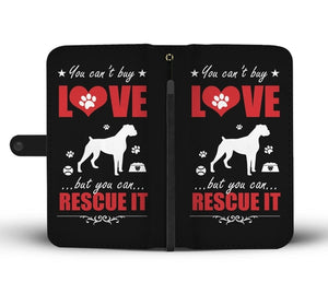Rescue the Dog Wallet Phone Case with RFID Blocker