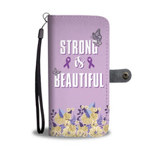 Load image into Gallery viewer, Strong Beauty Wallet Phone Case with RFID Blocker