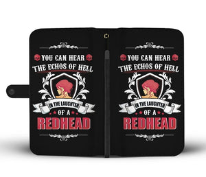 Redhead Wallet Phone Case w/ RFID Blocker