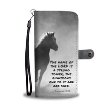 Load image into Gallery viewer, Running Horse Wallet Phone Case w/ RFID Blocker