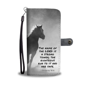 Running Horse Wallet Phone Case w/ RFID Blocker