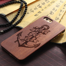 Load image into Gallery viewer, Wood Anchor iPhone Case