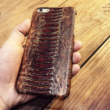 Load image into Gallery viewer, Snake style Cow Leather Phone Case