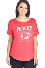 Load image into Gallery viewer, Peachy W Peach Design Short Sleeve Top Plus Size