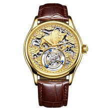 Load image into Gallery viewer, Automatic Golden Mechanics Surface High Archives Man Business Affairs Wrist Watch Waterproof Noctilucent Dragon Table  WT100