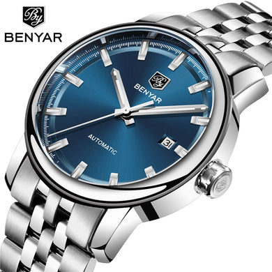 BENYAR Men's Mechanical Watches Automatic Mens watches Top Brand Luxury watch men WristWatch Military Relogio Masculino 2019 New