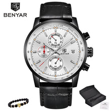 Load image into Gallery viewer, BENYAR New Watch Men Military Luxury Top Brand Quartz Business Men's Watches Fashion Chronograph Leather Clock Relogio Masculino