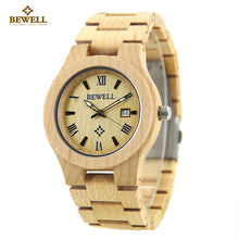Load image into Gallery viewer, BEWELL Wood Watch Men Wooden Fashion Vintage Men Watches