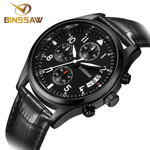 BINSSAW Men Luxury Quartz Watch Brand New Stainless Steel Business Casual Waterproof Luminous Sports Watches Relogio Masculino