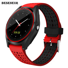 Load image into Gallery viewer, Beseneur V9 Smart Watch with Camera Bluetooth Smartwatch SIM Card