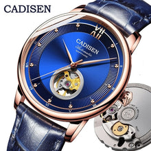 Load image into Gallery viewer, CADISEN Mens Watches Top Brand Luxury Watch Mechanical Automatic Watch Men Tourbillon skeleton watch Relogio Masculino 2019
