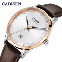 Load image into Gallery viewer, CADISEN Mens watches top brand luxury wristwatch mens automatic mechanical watch men leather watch men NH35A relojes hombre 2019
