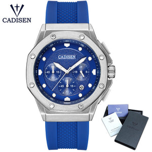CADISEN Watch Men Fashion Sport Chronograph Clock Mens Watches