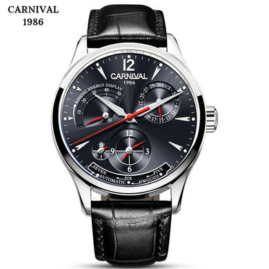 CARNIVAL Waterproof Mens Watches Top Brand Luxury Luminous Men Sports Watches Automatic Mechanical Men Military Army Watch Male