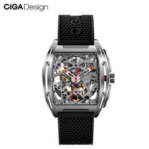 CIGA Design CIGA Mechanical Watch Z Series Watch Barrel Type Double-Sided Hollow Automatic Mechanical Men's Waterproof Watch