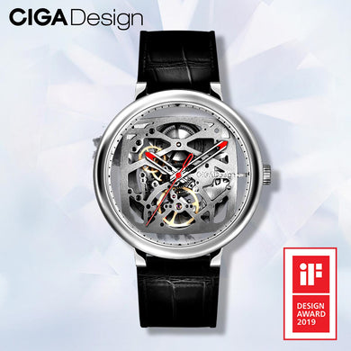 CIGA Design Top Brand CIGA Watch Double Curved Full Hollow Automatic Mechanical Watch Retro Watch Men's Business Watches