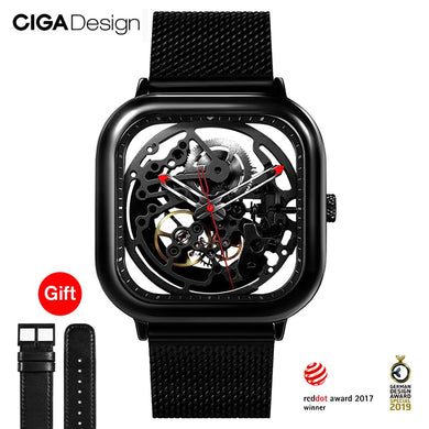 CIGA Design Top Design CIGA Watch Automatic Hollowing Mechanical Watch Square Mechanical Watch Men's Fashion Watches