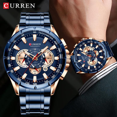 CURREN Men Watch 2019 Top Brand Luxury relogio masculino Sports Chronograph Men Wrist Watch Military For Meski Male Clock Quartz