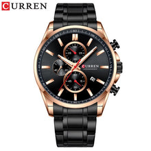 Load image into Gallery viewer, CURREN Men's Watch Causal Sport Watches Top Luxury Brand Blue Full Steel Quartz Wristwatch Chronograph Military Male Clock