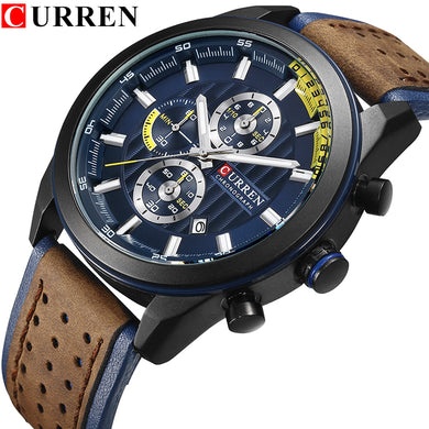 CURREN Mens Watches Top Brand Luxury Fashion Casual Quartz Watch Men Military Sport Waterproof Wristwatch Relogio Masculino