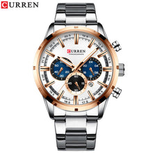 Load image into Gallery viewer, CURREN Top Brand Luxury Quartz Watches Clock Mens Stainless Steel Date Chronograph Watch for Men Fashion Casual Sporty Watch