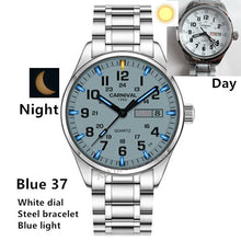 Load image into Gallery viewer, Double calendar Date T25 Tritium Luminous Quartz military watch waterproof 200M Sapphire Brand Watches Mens full steel relojes