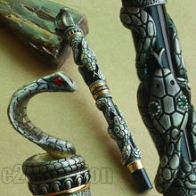 Load image into Gallery viewer, FOUNTAIN PEN JINHAO OLD GREY SNAKE YEAR COMMEMORATE MEDIUM 18KGP NIB JINHAO BOX FOR CHOOSE