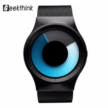 Load image into Gallery viewer, GEEKTHINK Quartz Mens Watches Top Brand Luxury Casual Stainless steel Mesh Band Unisex Watch Clock Male female Gentleman gift