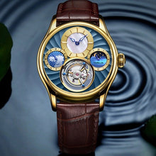 Load image into Gallery viewer, GUANQIN 2019 Real Tourbillon Mechanical Hand Wind Mens Watches Top Brand Luxury Skeleton Clock men Sapphire Relogio Masculino