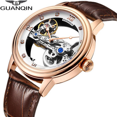GUANQIN 2019 men watches top brand luxury Automatic Luminous clock men Tourbillon waterproof gold Mechanical relogio masculino