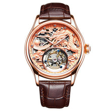 Load image into Gallery viewer, Guanqin Skeleton Mechanical Tourbillon  Men Watch Waterproof  Leather 2019 Original Brand Luxury Tourbillon relogio masculino