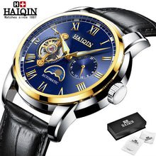 Load image into Gallery viewer, HAIQIN 2019 Fashion Men Mechanical watch top brand luxury Military wristwatch mens automatic watch Tourbillon Relogio Masculino