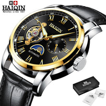 Load image into Gallery viewer, HAIQIN Automatic Mechanical watches mens Military wrist watch mens watches top brand luxury watch men Tourbillon relojes hombre