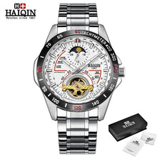 Load image into Gallery viewer, HAIQIN Luxury watch men Business mechanical wristwatch mens top brand Military watch men waterproof Tourbillon reloj hombre 2019