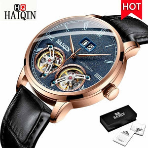 HAIQIN Men's Watches Automatic/Mechanical/Waterproof/Sports/Gold/Military/Watch Men Top Brand Luxury Business Relogio Masculino