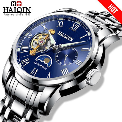 HAIQIN relojes hombre 2019 mechanical watches mens Military wristwatch mens watches top brand luxury mens watch Tourbillon Sport