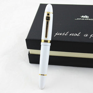 High Quality Luxury JINHAO 159 Fountain Pen Metal 0.5MM Medium Nib Ink Pens Business School Office Supplies Canetas